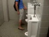 piss play in the public washroom