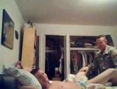 military man barebacks his boyfriend