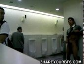 Jerking in the public toilet
