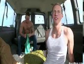 two guys in a van