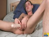 Grant Rides A Dildo And Wanks His Long Shaft