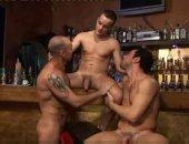 Threesome On A Bar