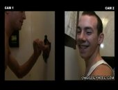 Straight boy is tricked into giving a random dick a blow job through a glory hole.