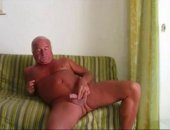 Old mature Daddy jerks off his cock.  Old Daddy may not have a big cock but he jerks it well until he cums on his leg.