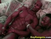 Straight muscular black man has never had his black cock sucked by a man, until now.