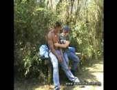 Jungle Outdoor Backpackers Tease Eachother