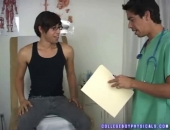 Asian Jock Nelson Gets Inspected
