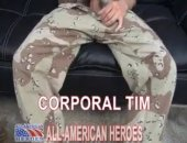 Military Cock Stroked