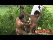 Asian Outdoor Tickling