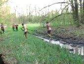 Outdoor Muddy Wrestling Fun