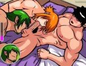 Gay Cartoon Orgy Bareback