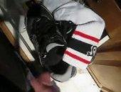 sneakers Shox cumshot
