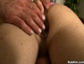 rough massage and ass play