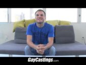 GayCastings twink gapes his hole at gay porn casting