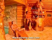 wanking in the wood cabin