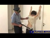 sleazy cop slams a twink