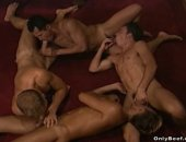Beef Foursome Blowjob