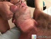 Cumming On His Hairy Chest