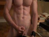 Muscle Guy Masturbates