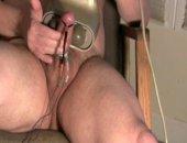 Bisex Bear Estim Massager Cum