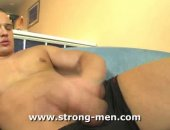 Thick Cocked Hunk Jerking Off