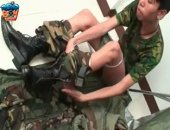 Asian Soldier Strips and Strokes