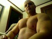 Stud Flexing his Big Muscles