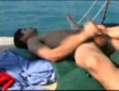 Twink Jerking Cock on a Boat