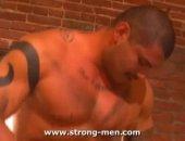 Mature Muscular Man Sucking Cock