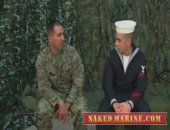 Marine Recieves His First Blowjob