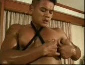 Buff Asian Jerking Off