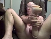 Daddy Huge Dildo Insertion