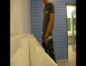 Amateur Piss In College Bathroom