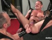 daddy gets a stretching
