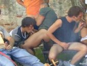 Outdoor Group Blowjob