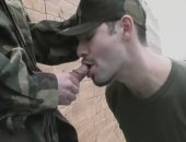 Outdoor Military Blowjob