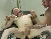 Horny Guy Tied Up