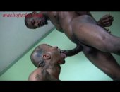 Two sexy black queers take turns sucking and fucking each others black cocks.