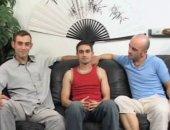 Three Friends Gay Orgy