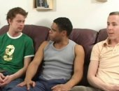 Three Guys In Interracial 3some