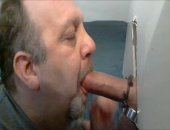 SUPER THICK COCK AT GLORYHOLE