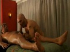 Bear Massage Ends in Blowjob