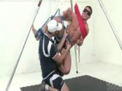 Muscular Jock Marc Tied and Tickled