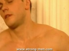 Strong Euro Stud Jerks Off