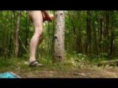 Outdoor Forest Fleshlight Fuck