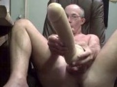Old Gay Man Plays with Ass