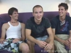 Cute Straight Guys Interviewed and Strip