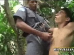 hot outdoor anal with brazillian officer