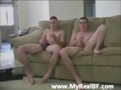 military boys fooling around