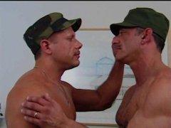 mature militay men swap loads